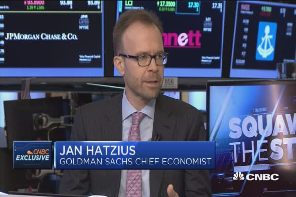 Goldman's chief economist: Strong jobs numbers don't look sustainable