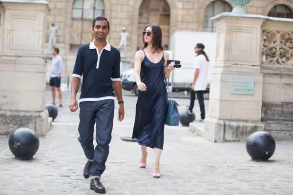 Aziz Ansari in Paris for Men's Fashion Week.
