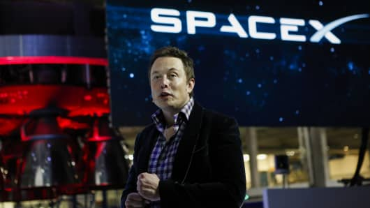 Elon Musk CEO of Space Exploration Technologies Corp
