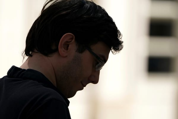 Former drug company executive Martin Shkreli exits U.S. District Court after being convicted of securities fraud, in the Brooklyn borough of New York City, U.S., August 4, 2017.
