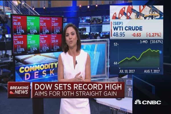 Oil prices pause, dips below $49