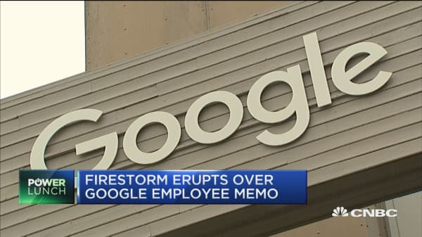 Firestorm erupts over Google employee memo