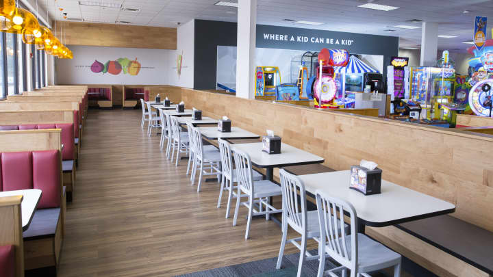 Chuck E. Cheese's updated dining room