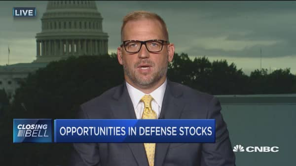 How could defense stocks benefit the tensions between North Korea and the US?