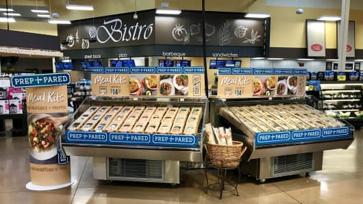Kroger began experimenting with meal kits at four stores in the Cincinnati area in May.