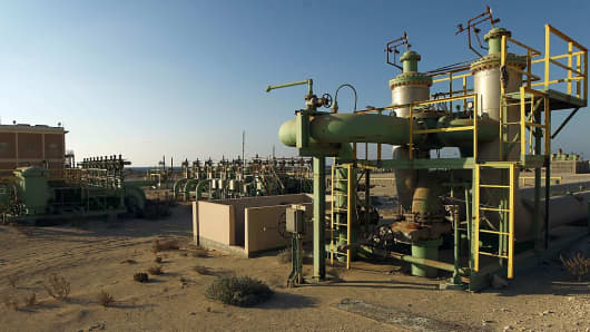A picture shows a general view at the Zueitina oil terminal in Libya on September 14, 2016.