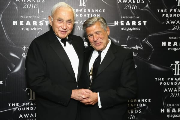 Les Wexner (left) with Ed Razek (right) at the 2016 Fragrance Foundation Awards.