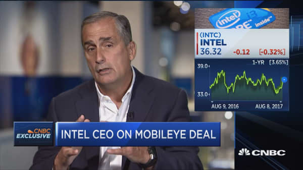 Mobileye places Intel as winner in autonomous driving space: Intel's Brian Krazanich