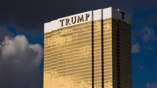 The Trump Tower in Las Vegas.