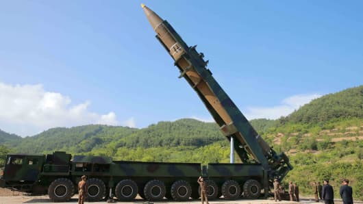 North Korea 'FIRES missile' after threatening United States with war