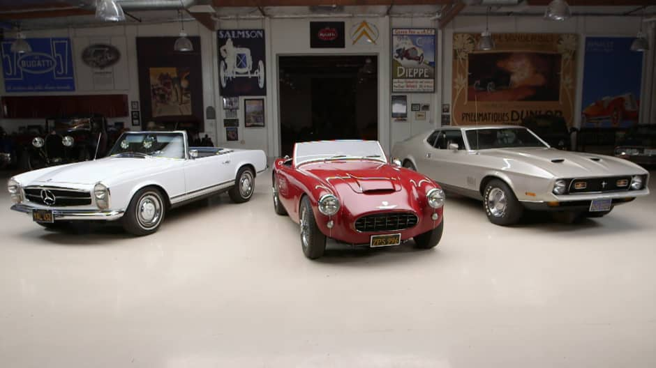 Jay Leno gets appraisal of a '67 Mercedes-Benz, '59 Austin-Healey and a '71 Ford Mustang