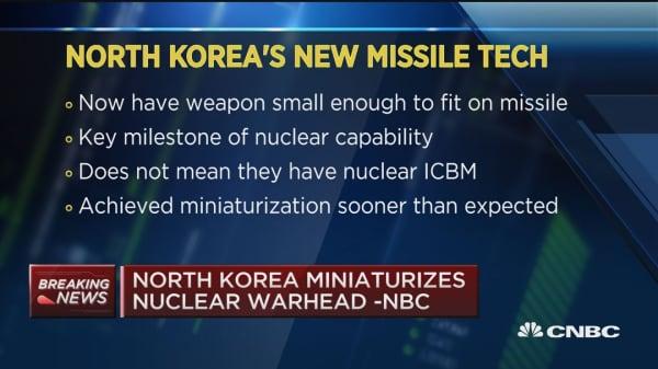 North Korea minaturizes nuclear warhead