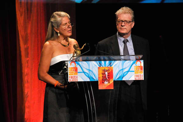 Author Jill Bolte Taylor and educator Sir Ken Robinson speak at the 2008 Freedom Awards, held at the University of Southern California on September 15, 2008 in Los Angeles, California.