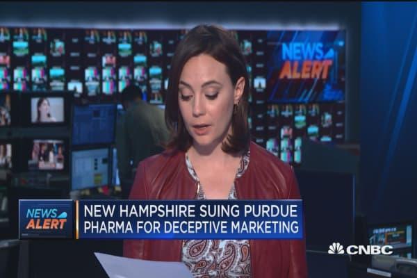 New Hampshire sues oxycotin marker Purdue Pharma