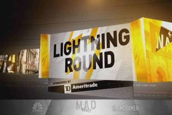 Cramer's lightning round: This Amazon rival's not as hot as the real deal