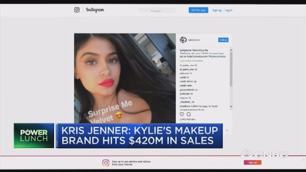 Kris Jenner: Kylie's makeup brand hits $420M in sales
