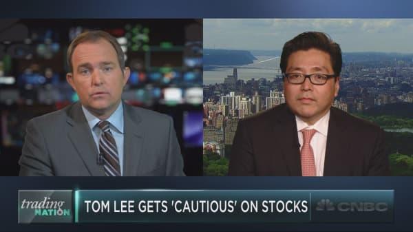 Fundstrat's Tom Lee on his biggest market worries now
