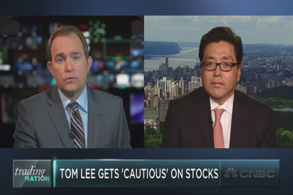 Fundstrat's Tom Lee on his biggest market worries now