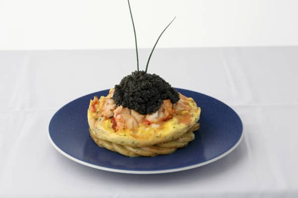 "The ""Zillion Dollar Lobster Frittata"" from Norma's in NYC's Le Parker Meridien hotel."