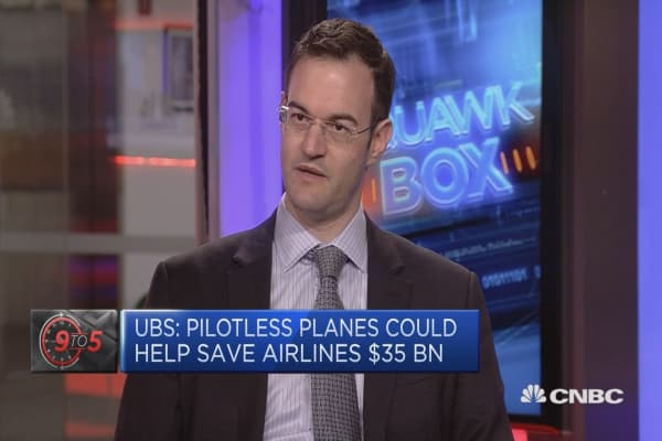 Pilotless planes could be a possibility: UBS