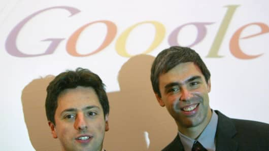 Google founders Sergey Brin and Larry Page