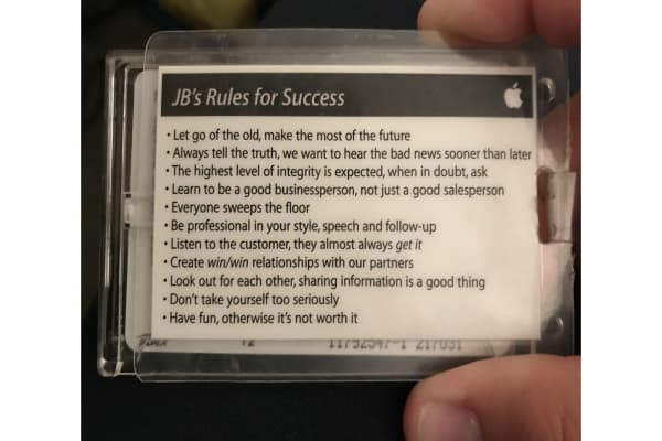 This former Apple employee shows the 11 'rules for success' the company gave him when he worked there