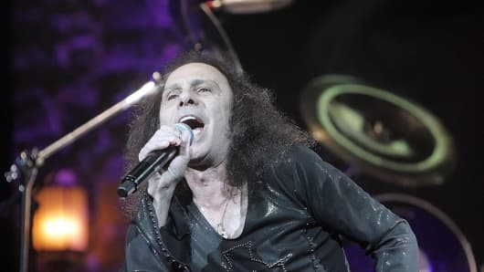 Ronnie James Dio of Heaven and Hell during Heaven and Hell Performs at the HP Pavilion in San Jose - April 24, 2007 at HP Pavilion in San Jose, California.