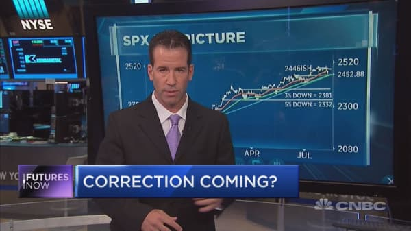 Here's why investors may want to brace for a market correction