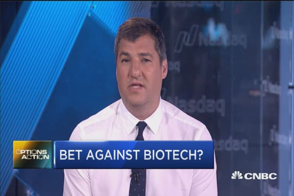 Here's why traders are making a bet against biotech