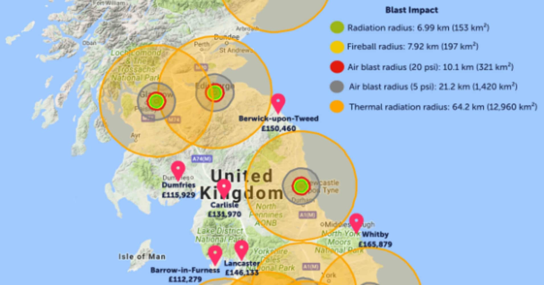 UK estate agent draws map of where to live to avoid 'nuclear impact zone' – then says sorry