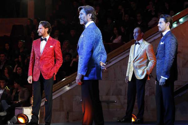Models walk the runway during the Stefano Ricci fashion show at Tashkent Circus on October 25, 2013 in Tashkent, Uzbekistan.
