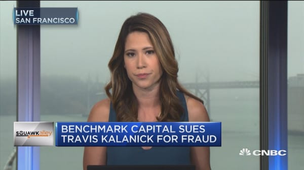 Benchmark accuses Kalanick of a 'selfish' power grab