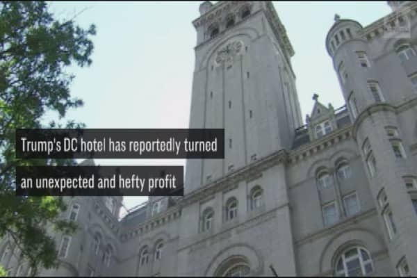 Trump's DC hotel turns an unexpected and hefty profit