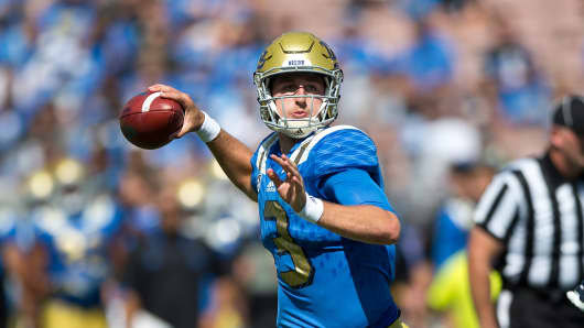 Quarterback Josh Rosen #3 of the UCLA Bruins.