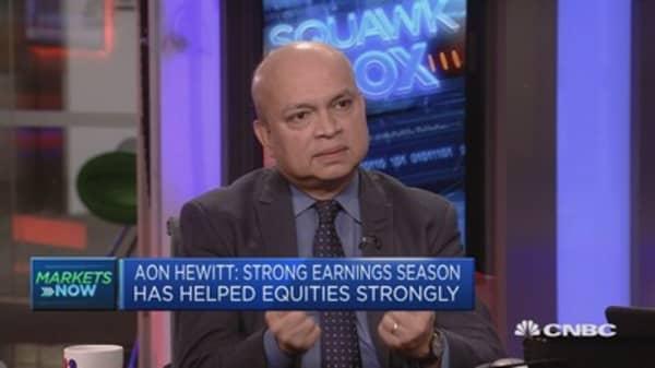 Aon Hewitt: Strong earnings season has helped equities