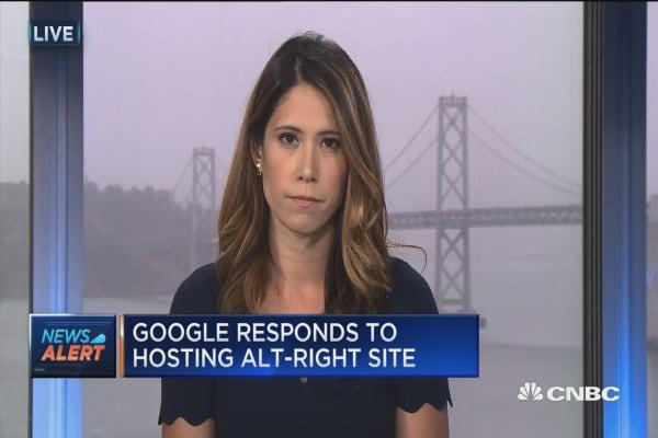 Google cancels white supremacist site's domain registration