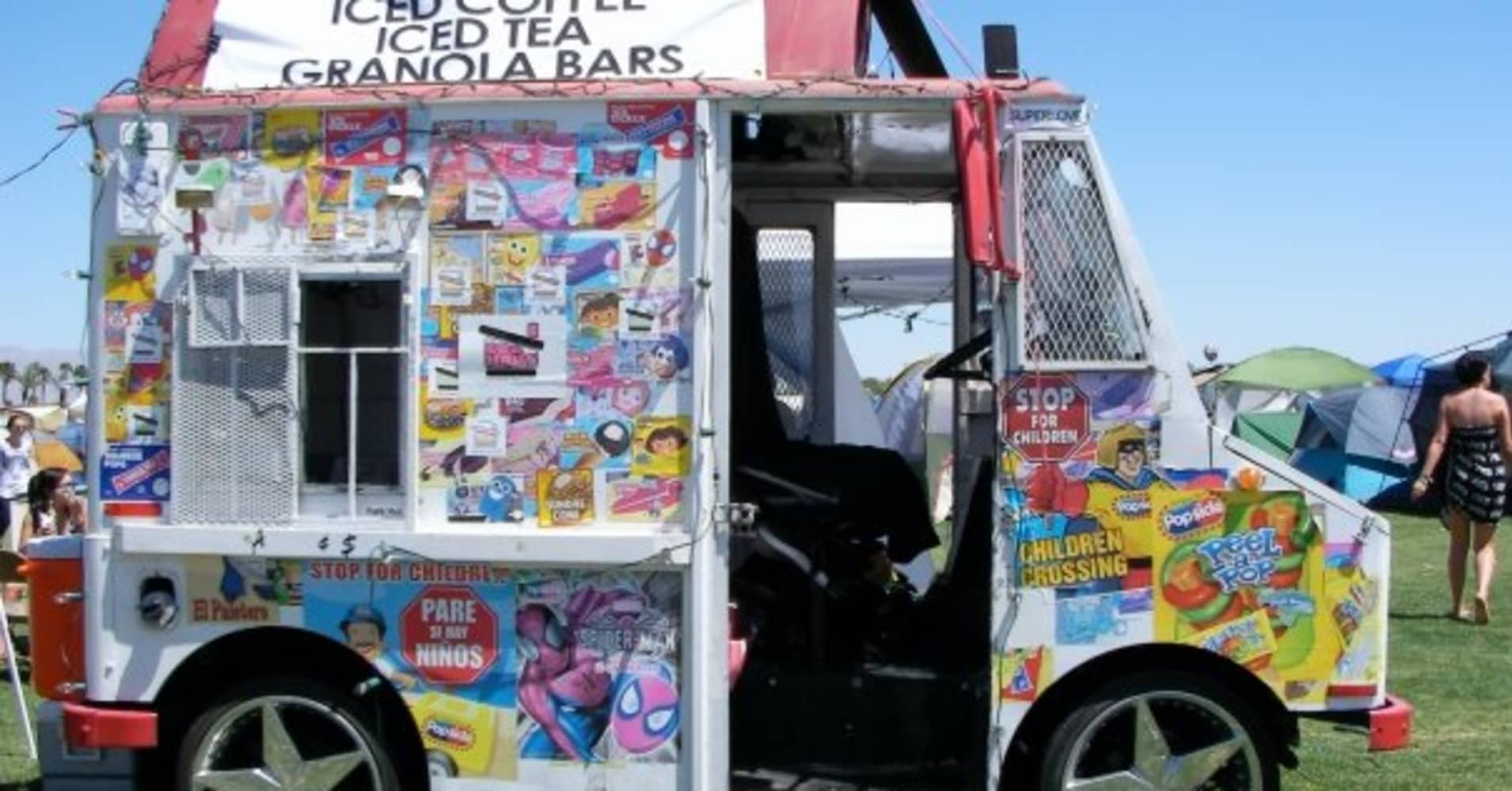 The first Coolhaus food truck at the music festival Coachella.