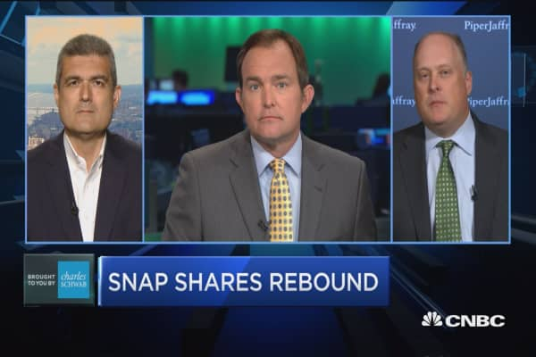 Trading Nation: Snap shares rebound
