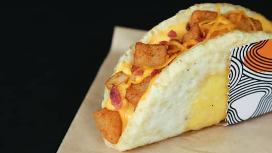 Taco Bell's new Naked Egg Taco