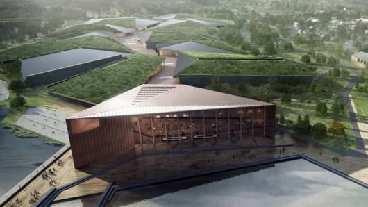 An artist impression of the proposed Kolos data center