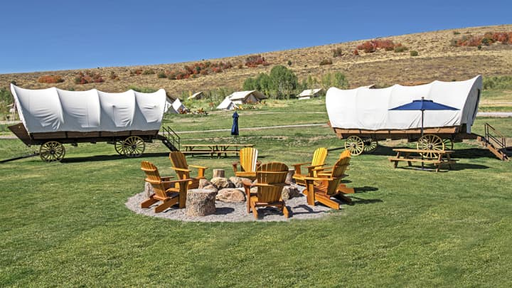 Conestoga Ranch Glamping Resort in Utah.