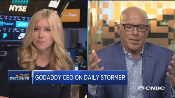 With the events that happened in Charlottesville, we felt the Daily Stormer went too far, crossed the line: GoDaddy CEO