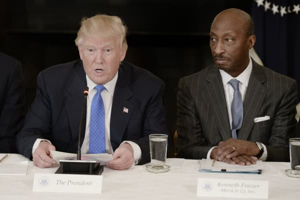 President Donald Trump and Kenneth Frazier