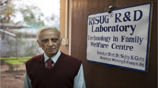 Sujoy Guha, biomedical engineer and inventor of the reversible inhibition of sperm under guidance (RISUG) male contraceptive treatment