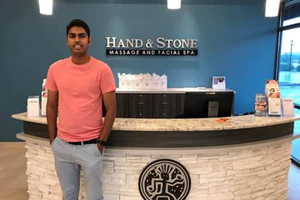 Twenty-one-year-old college student Dylan Patel purchased Hand & Stone Massage and Facial Spa in May, bringing his total to four franchises in just two years.