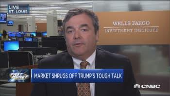 Market shrugs off Trump's tough talk