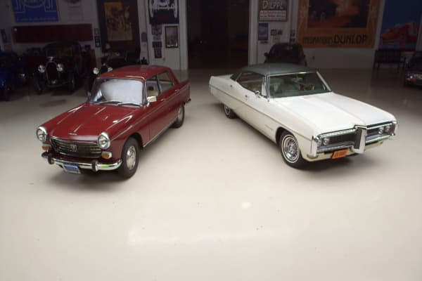 What's the worth of the '66 Peugeot 404 and '68 Pontiac Bonneville