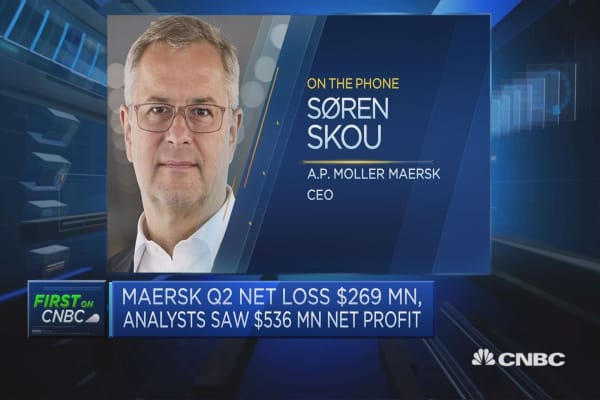 A.P. Moller Maersk CEO: Ransomware cyber attack led to predominant loss of business in July