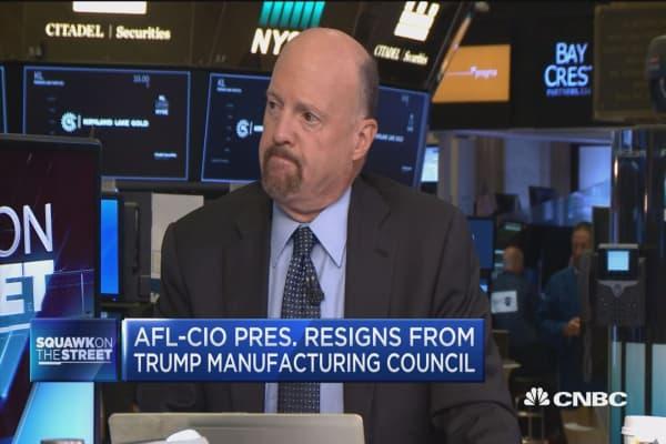 Jim Cramer warns 'the president needs to be careful'