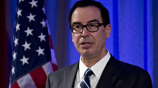 Steven Mnuchin, U.S. Treasury secretary.